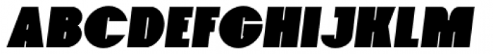 Foxxy Black Italic Font UPPERCASE