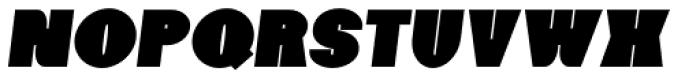 Foxxy Black Italic Font LOWERCASE
