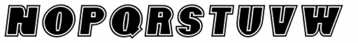 Foxxy Outline Italic Font LOWERCASE
