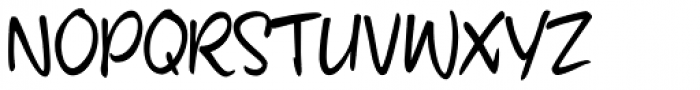 fourHand Font UPPERCASE