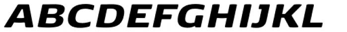 FP København Sans Black Italic Font UPPERCASE