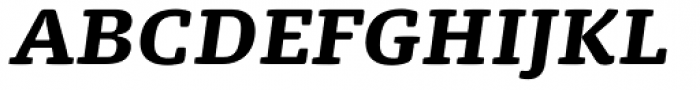 FPDancer Serif Black Italic Font UPPERCASE