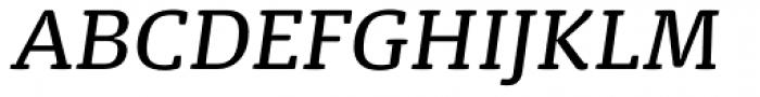 FPDancer Serif Book Italic Font UPPERCASE