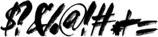FRANCES-BRUSH-01 Regular otf (400) Font OTHER CHARS