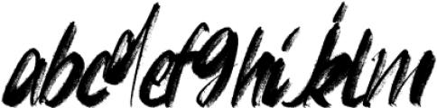 FRANCES-BRUSH-03 Regular otf (400) Font LOWERCASE