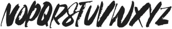FRANCES-BRUSH-Solid3 Regular otf (400) Font UPPERCASE