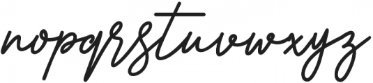 Fractis otf (400) Font LOWERCASE
