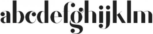 Fragile otf (400) Font LOWERCASE