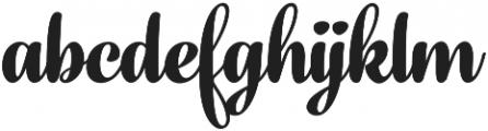 Fragola Bold otf (700) Font LOWERCASE