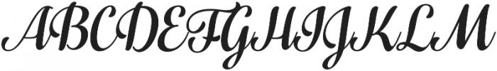 Fragola Italic otf (400) Font UPPERCASE