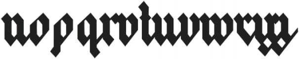 Frakfurt otf (400) Font LOWERCASE