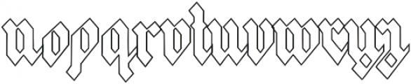 Frakfurt2 otf (400) Font LOWERCASE