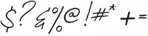 Francisco otf (400) Font OTHER CHARS