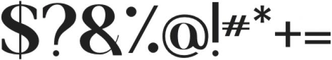 Francois Serif Regular otf (400) Font OTHER CHARS