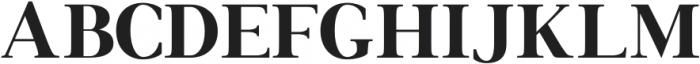 Francois Serif Regular otf (400) Font UPPERCASE