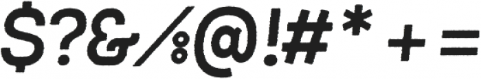 Frank Bold Oblique Rough ttf (700) Font OTHER CHARS
