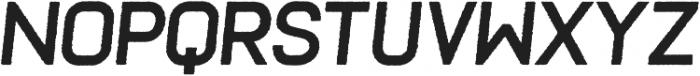 Frank Bold Oblique Rough ttf (700) Font UPPERCASE