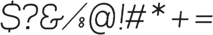 Frank Light Oblique Rough ttf (300) Font OTHER CHARS