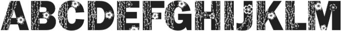 FrankFlowers 1 otf (400) Font UPPERCASE