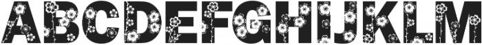 FrankFlowers 1 otf (400) Font LOWERCASE