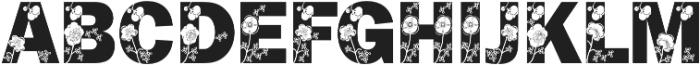 FrankFlowers 2 otf (400) Font UPPERCASE