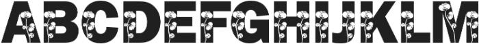 FrankFlowers 2 otf (400) Font LOWERCASE