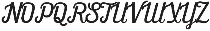 Frankey Script otf (400) Font UPPERCASE