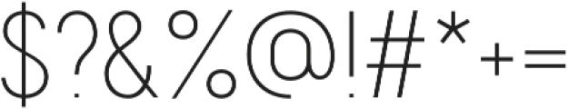 Franks Pro Light otf (300) Font OTHER CHARS