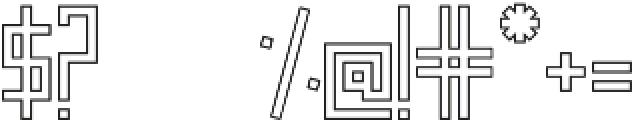 Frankstern Outline otf (400) Font OTHER CHARS