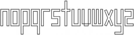 Frankstern Outline otf (400) Font LOWERCASE