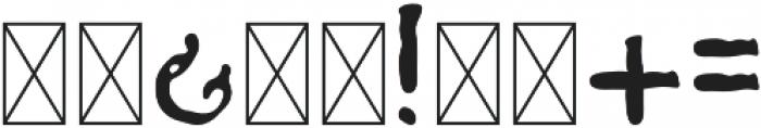 Fratelli Regular otf (400) Font OTHER CHARS
