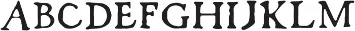 Fratelli Regular otf (400) Font UPPERCASE