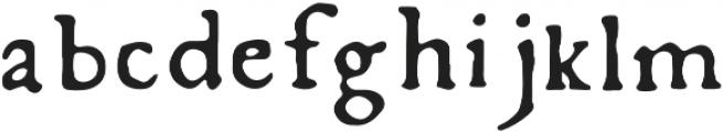 Fratelli Regular otf (400) Font LOWERCASE