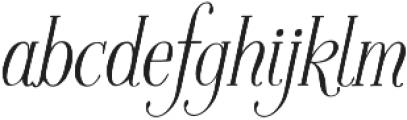 Fratello Nick Italic otf (400) Font LOWERCASE
