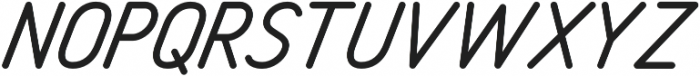 Freeday Sans Oblique otf (400) Font UPPERCASE