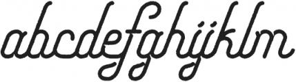 Freeday Script Rough Solid SemiBold otf (600) Font LOWERCASE