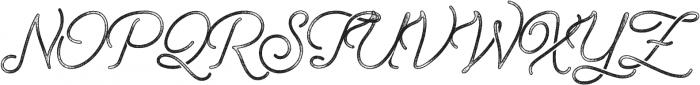 Freeday Script Rough Textured SemiBoldTextured otf (600) Font UPPERCASE