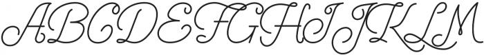 Freeday Script otf (400) Font UPPERCASE