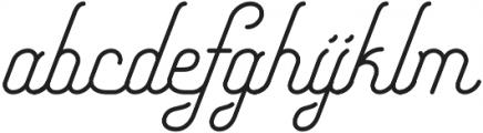 Freeday Script otf (400) Font LOWERCASE