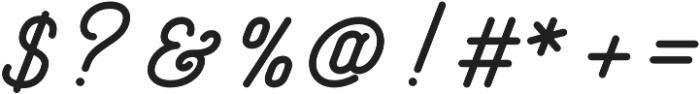 Freeday Script otf (700) Font OTHER CHARS