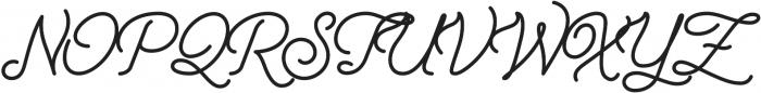 Freeday Script otf (700) Font UPPERCASE
