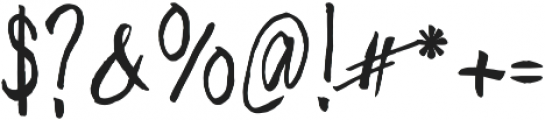 Freehand Blockletter otf (400) Font OTHER CHARS