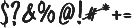 Freehand Blockletter otf (700) Font OTHER CHARS