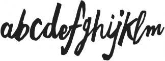 Freehand Brush otf (400) Font LOWERCASE
