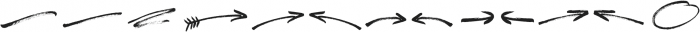 Freespirit Brush Extras ttf (400) Font UPPERCASE