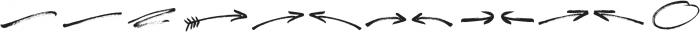 Freespirit Brush Extras ttf (400) Font LOWERCASE