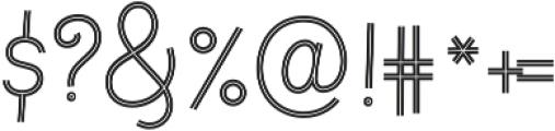 Fregata Script Inline otf (400) Font OTHER CHARS