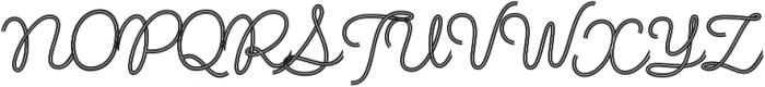Fregata Script Inline otf (400) Font UPPERCASE