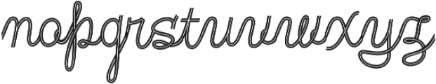 Fregata Script Inline otf (400) Font LOWERCASE