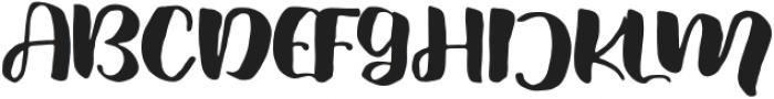 Fresh Hansler Regular otf (400) Font UPPERCASE